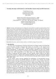 Instruções aos Autores de Trabalhos para o X ... - DSR - Inpe