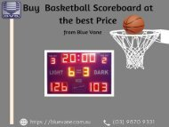 Basketball Scoreboard at low cost Price - Blue vane