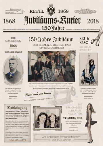 Jubiläums Kurier - 150 Jahre Rettl