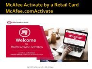 McAfee Activate by a McAfee Retail Card - McAfee.com/Activate