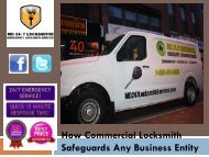 How Commercial Locksmith Safeguards Any Business Entity
