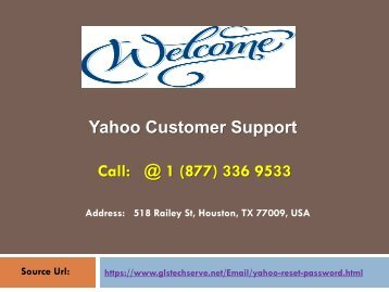 Yahoo Customer Support +1-877-336-9533