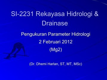 02.SI-2231 Pengukuran Parameter Hidrologi (minggu2)