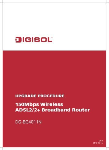 Firmware Upgrade Procedure - Digisol.com
