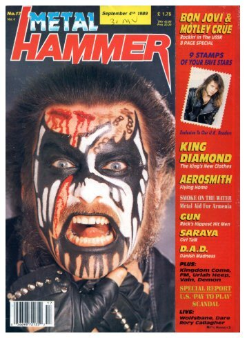 Metal Hammer sept 4, 1989
