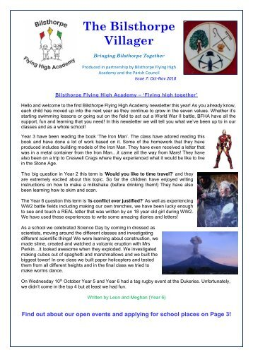 The Bilsthorpe Villager - October-November 2018