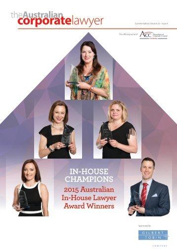 Australian Corporate Lawyer - Summer 2015