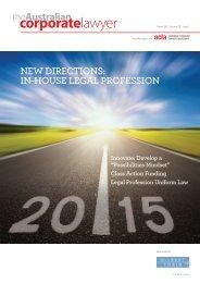 Australian Corporate Lawyer - Autumn 2015