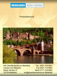 Produktübersicht HEIDELBERG WOOD COATINGS - KM Oberflächenforum in ...