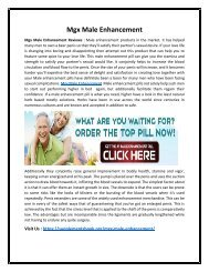 Mgx Male Enhancement - Make Her Happy and satisfied With You