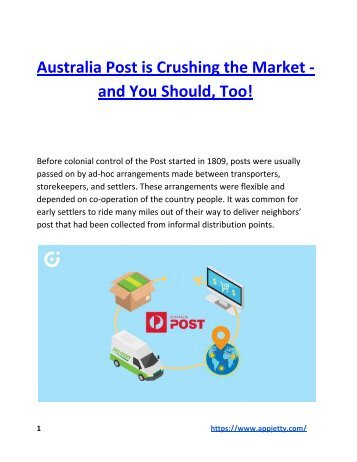 Australia Post is Crushing the Market - and You Should, Too!