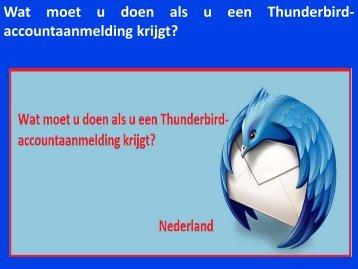 Wat moet u doen als u een Thunderbird-accountaanmelding krijgt
