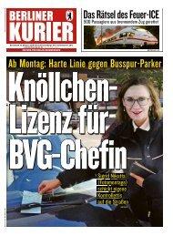 Berliner Kurier 13.10.2018