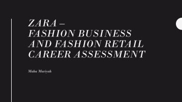 pdf Fashion Business And Retail Careers Assessment