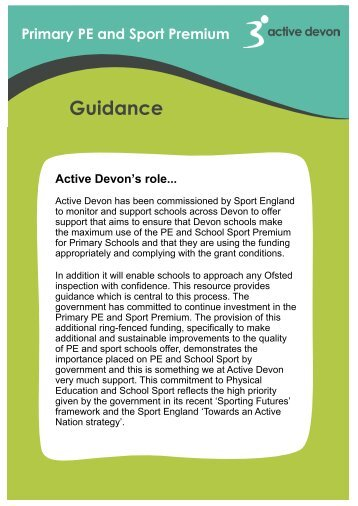Final - Primary PE and Sport Premium Guidance