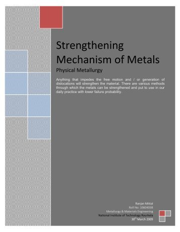 Strengthening Mechanism of Metals