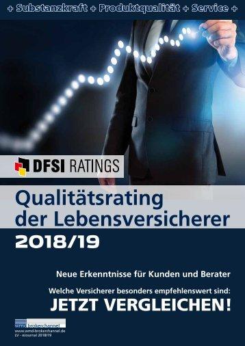 Qualitätsrating der Lebensversicherer 2018/19