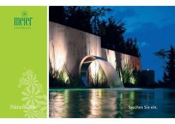 Prospekt Natura-Pool > Download 2,7MB - Meier Gartenbau AG