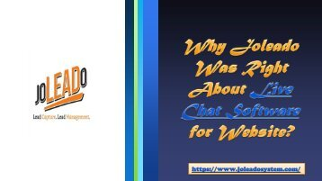 Why Joleado Was Right for Live Chat Software Tool