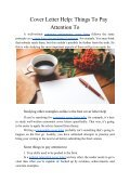 Cover Letter Help: Things to Pay Attention to - Page 2