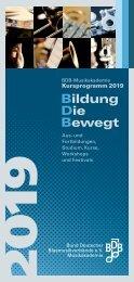 Kursprogramm 2019 - BDB-Musikakademie
