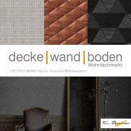 LIFE STYLE BOARD TexLine Möbelbauplatten mit Digitaldruck in Textiloptik