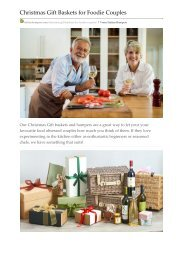 Christmas Gift Baskets for Foodie Couples