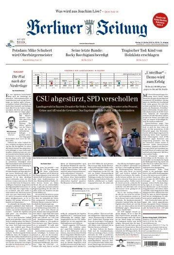 Berliner Zeitung 15.10.2018