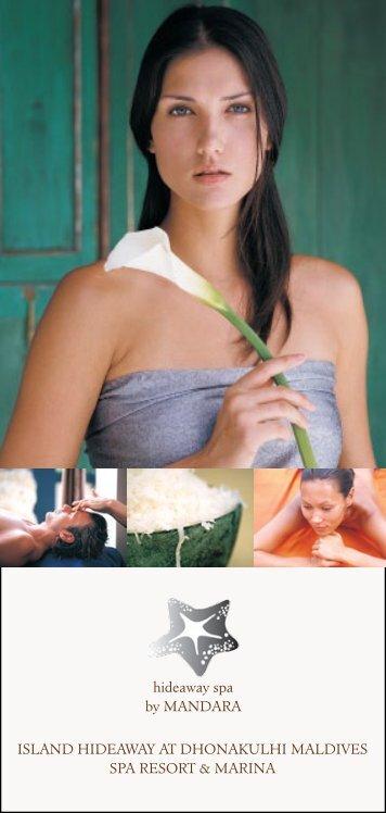 Download our spa menu - Mandara Spa