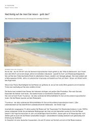 Nachhaltig auf die Insel Sal reisen - geht das?
