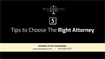 5 Tips To Choose The Right Personal Injury Attorney
