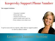 Kaspersky Support & Customer Service Number