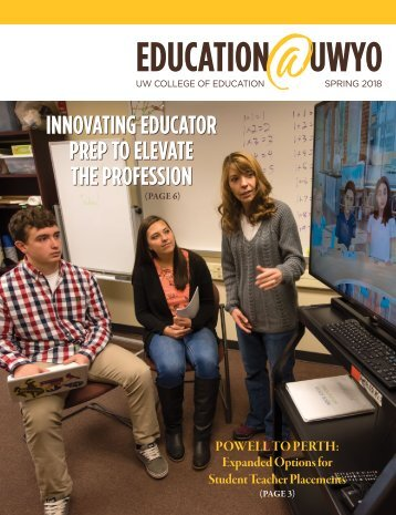 University of Wyoming College of Education Spring 2018