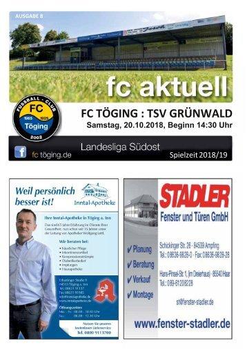 """""""fc aktuell"""" Saison 2018-19 Ausgabe 8"""