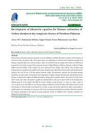 Development of allometric equation for biomass estimation of Cedrus deodara in dry temperate forests of Northern Pakistan