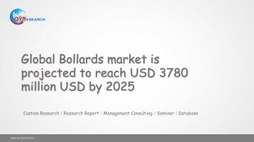 Global Bollards market is projected to reach USD 3780 million USD by 2025