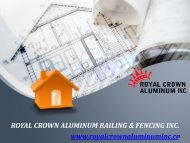 Top Agency for Best Quality and Affordable Aluminum Gate and Railing Installation