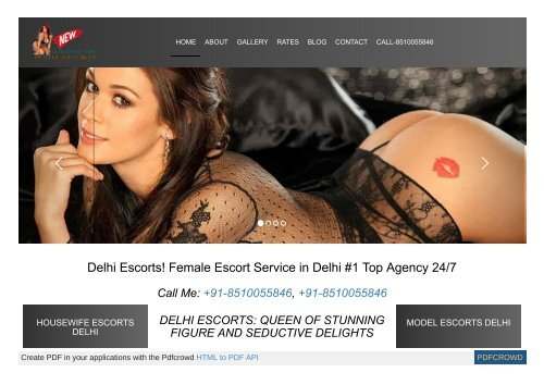 Amazing escorts service by outstanding adorable and mind blowing seductive girls by Pooja escort service in Delhi