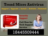 Need Trend Micro Antivirus Support Phone Number call 18445509444?