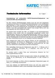 Kap 7 Instandsetzung von Katalysatoren - KATEC CATALYSTS