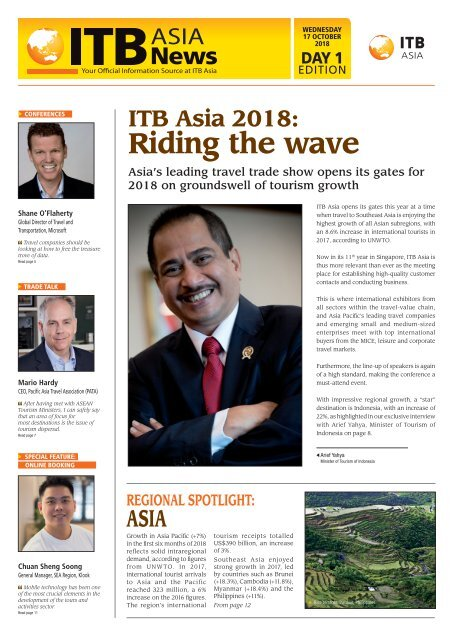 ITB Asia News 2018 - Day 1 Edition