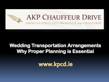 Wedding Transportation Arrangements Why Proper Planning is Essential