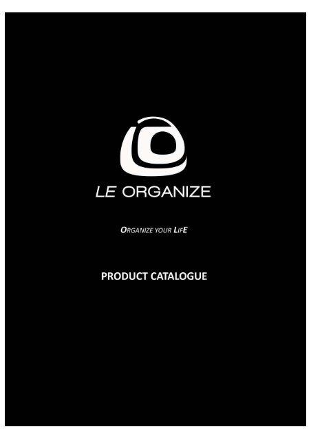 00 Le Organize Product Catalogue Cover