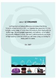 01 Le Organize Product Catalogue