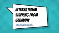 International Shipping From Germany