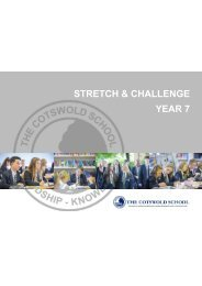 Stretch and Challenge - Year 7