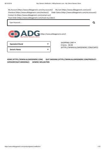 Buy Generic Wellbutrin _ AllDayGeneric.com - My Online Generic Store