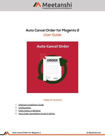 Magento 2 Auto Cancel Order