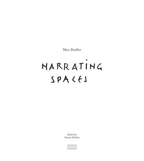 Max Dudler—Narrating Spaces