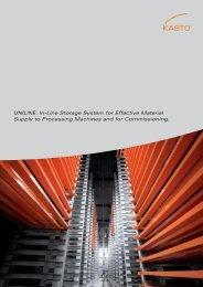 UNILINE: In-Line Storage System for Effective Material ... - KASTO